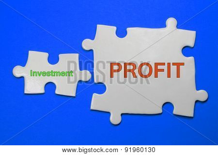 Investment, Profit Text - Business Concept