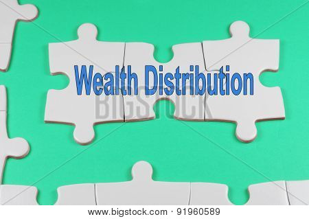 Wealth Distribution Text - Business Concept