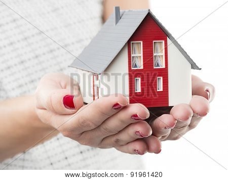 Invest in real estate concept isolated on white background.