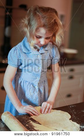 Young Girl Who Is Making Pastry