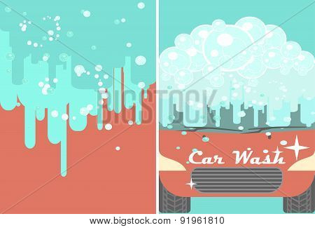 Car wash banner for advert.  Auto cleaning and polishing service
