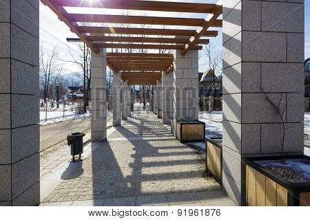 New Pergola Made Of Stone In Zakopane