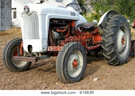 Farm Tractor In Field