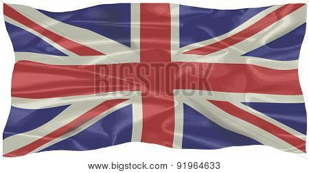 Silk Union Jack Flag