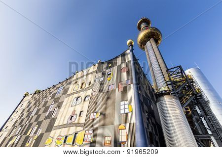Tower Of Garbage-processing Plant In Vienna