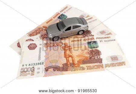 Car On Money Cash
