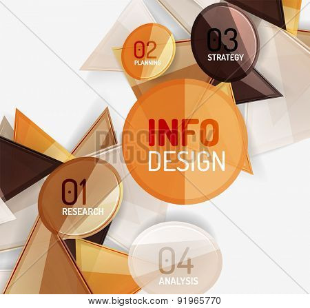 Business modern colorful geometric infographics, abstract compositions