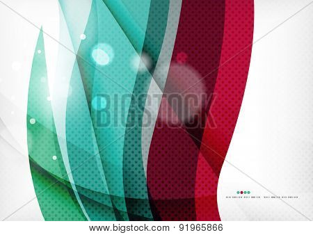 Blue purple design background, color wave template