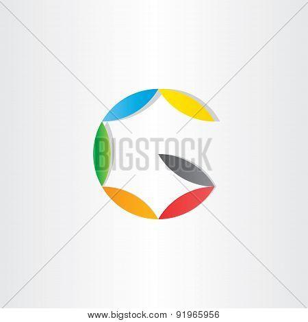 Letter G Colorfull Symbol