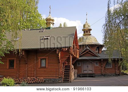 Wood Orthodox Church In Kiev