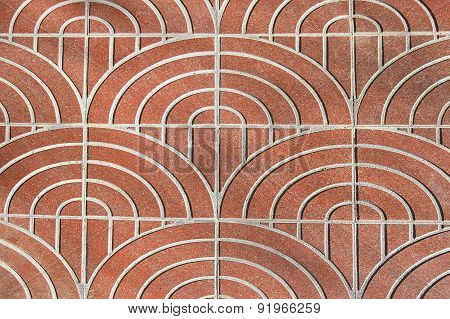 Red Pattern Pavement Background Texture
