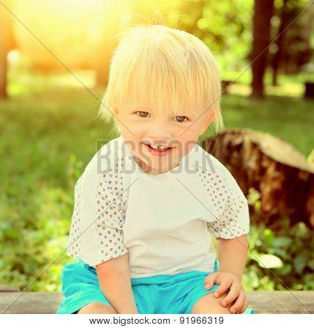 Cheerful Child Outdoor
