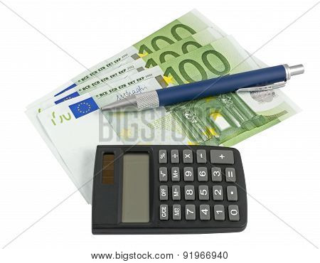 Business Concepts. Money With Calculator