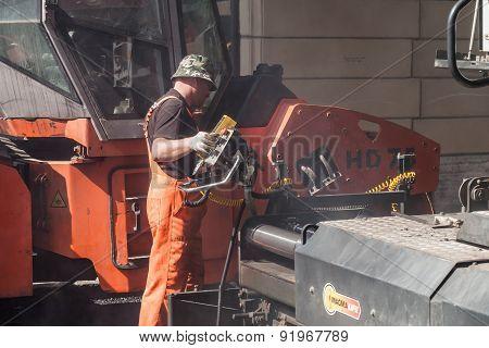 Men At Work, Urban Road Under Construction