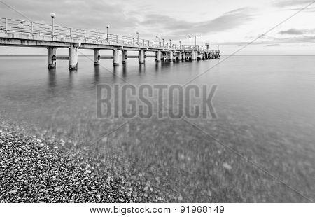 Monochrome Image Of The Pier.