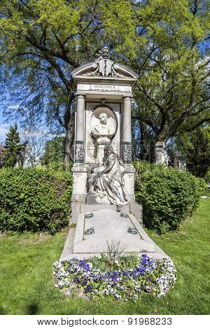 Last Resting Place Of Architect Carl Hasenauer At The Vienna Central Cemetery