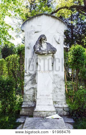 Last Resting Place Of Composer Brahms At The Vienna Central Cemetery