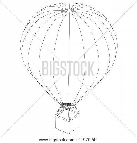 Balloon Gas Burner On A White Background