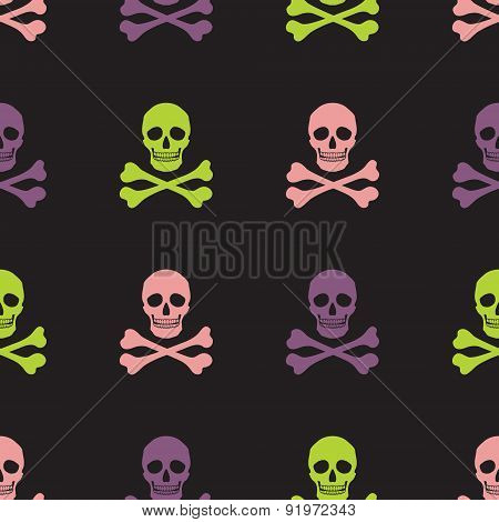 Simple Skull And Crossbones Seamless Pattern