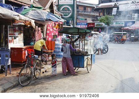 Pub Street - Downtown Siem Reap, Cambodia