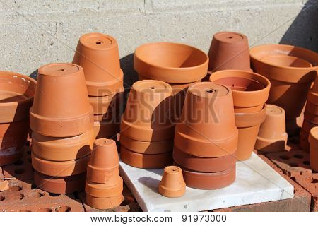 terracotta clay pots
