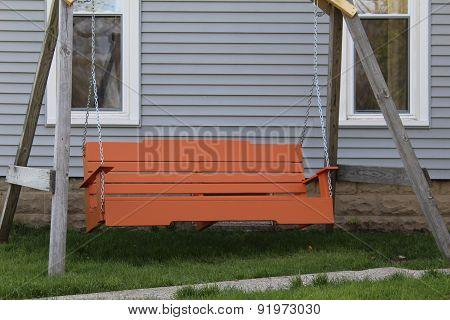 Attractive orange family swing