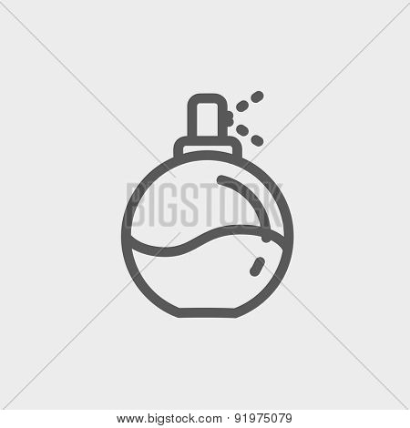 Perfume icon thin line for web and mobile, modern minimalistic flat design. Vector dark grey icon on light grey background.