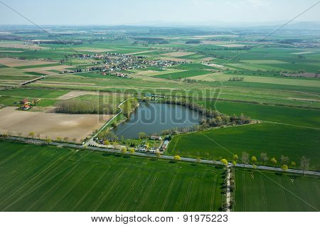 Aerial View Of Otmuchow