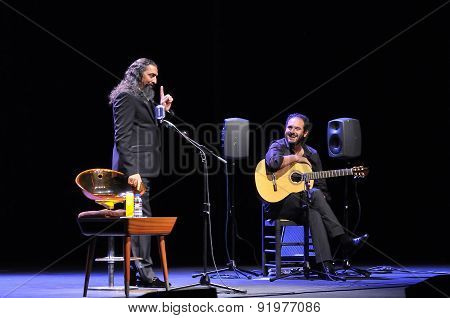 Diego El Cigala Flamenco Singer Concert In Gijon.