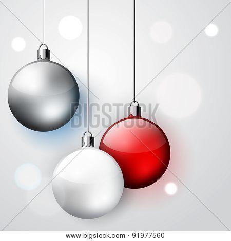 Three Decoration Christmas Balls