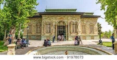 Tehran Green Palace Museum panorama
