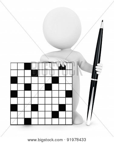 3d white people crossword