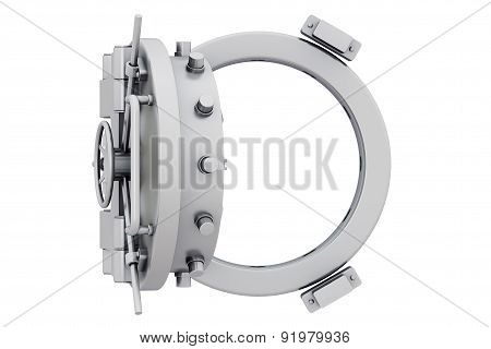 Metallic Bank Vault Door