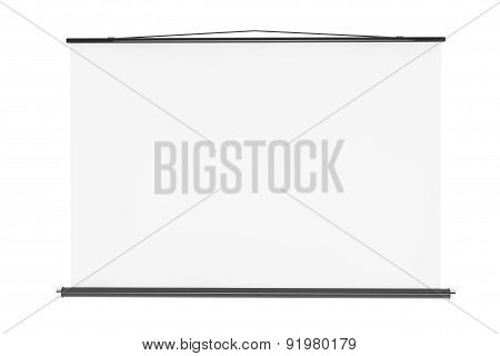 Blank Projection Screen With Rope
