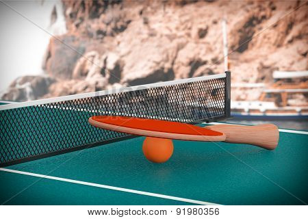 Ping-pong Tennis Table With Paddle