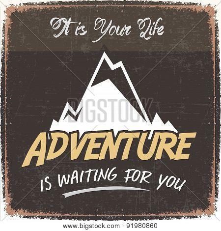 Retro Adventure Poster