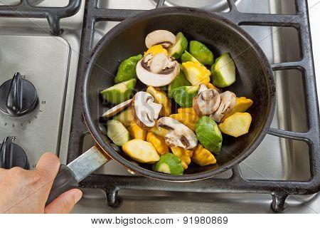 Cooking Vegetables For Dinner