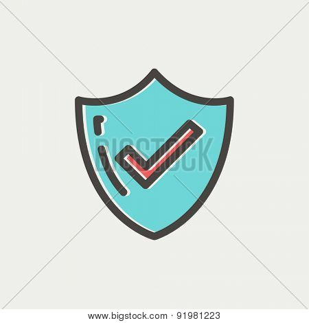 Bestseller guaranteed badge icon thin line for web and mobile, modern minimalistic flat design. Vector icon with dark grey outline and offset colour on light grey background.