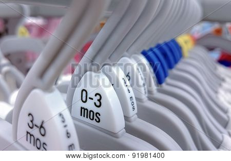 Group of hanger various sizes. for babies