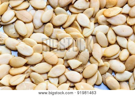 Closeup of melon seeds background
