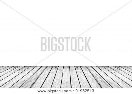 Wood Floor Texture Isolated On White Background