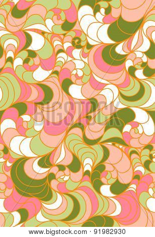 seamless floral background of drawn lines