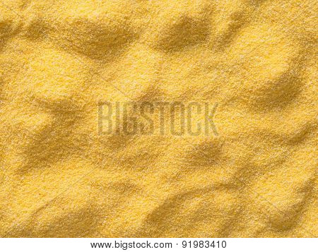 Raw Uncooked Italian Polenta Food Background