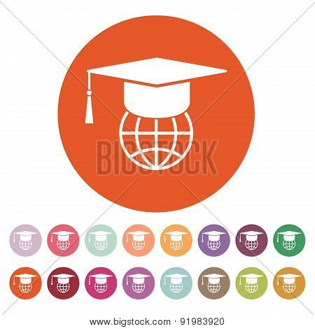 The Graduation Cap And Globe Icon