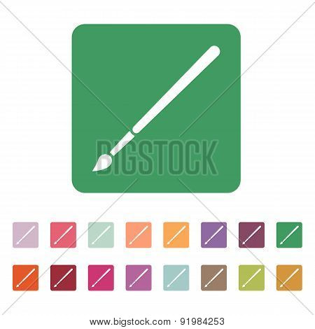 The Brush Icon.  Brush Symbol. Flat. Vector