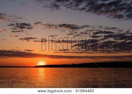 River Sunset Sky Sun
