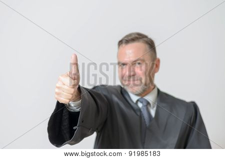 Businessman Giving A Thumbs Up Gesture