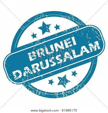 BRUNEI DARUSSALAM round stamp