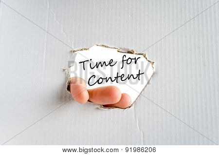 Time For Content Text Concept