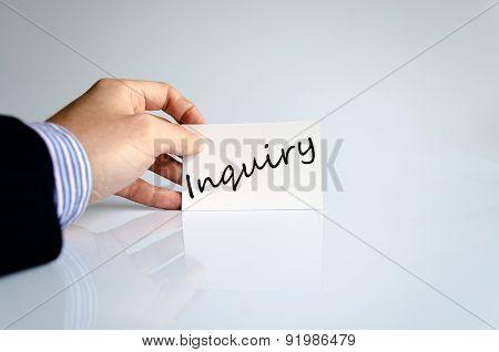 Inquiry Concept